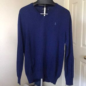 NWOT Polo V-neck Sweater (Size Small)
